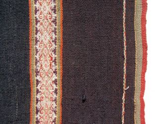 Large Antique Shoulder Manta Andes Quechua Indian Very Fine Tm9609 photo