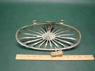 Vintage Nickel Plated Brass Bathroom Kitchen Soap Dish Old Hardware photo