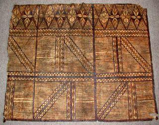 Antique Samoan Tapa,  (siapo) Early 20th C photo