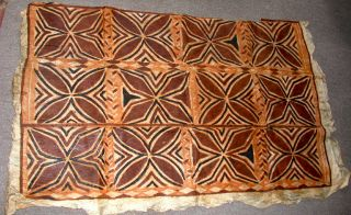 Antique Samoan Tapa,  (siapo) Early 20th C 2 photo