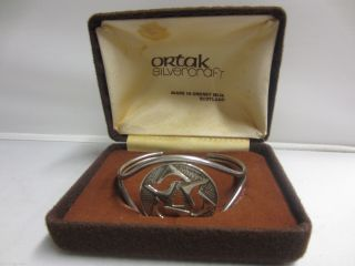 Vintage Scottish Solid Silver Bangle By Malcolm Gray Ortak Orkney - 1975 photo