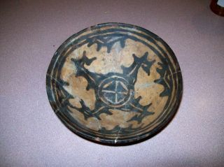 Old Ancient Middle East Persia Pottery Bowl Clay Authentic10th Century Antiquity photo