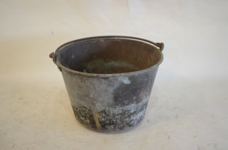 Ansonia Brass Cauldron Bucket Pail Kettle Pot Antique Fireplace photo