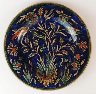 Stunning Palestine Antique Iznik Style Islamic Dish C1920 ' S photo