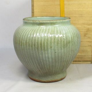 A197: Chinese Blue Porcelain Ware Vase Of Traditional Ryusen - Yo Style photo