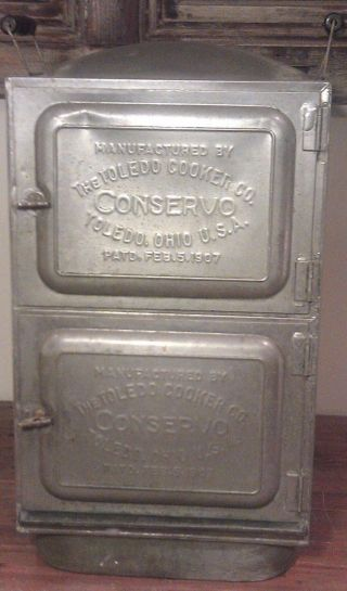 Antique Toledo Cooker Co.  Conservo Ohio 1907 Pat.  Smoker Steamer Canner Cooker photo