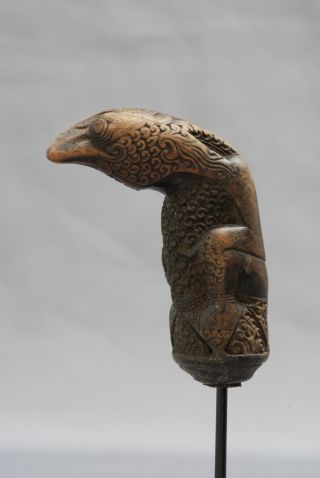 Hilt,  Keris Handle Of An Indonesian Dagger,  Lampung,  Sumatra,  Indonesia,  Wood photo
