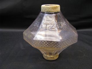 Antique Circa 1880 - 1920`s Crystal Clear Diddi Blitzen Glass Ball Tube Insulator photo