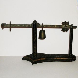 Antique Fairbanks Co Pharmacy Scale Patent April 23 1878 photo