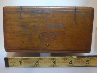 Antique Singer 1889 Wooden Folding Oak Box No Accessories photo
