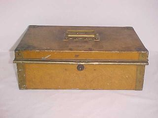 Antique 19th Century Grain Painted Document Money Box Chowchilla Keys photo