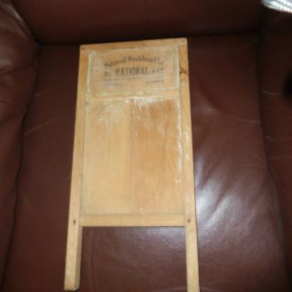 National Washboard Co.  No442 Vntg Americana Wood Metal Made In U.  S.  A. photo