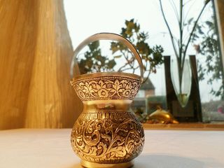 Antique Solid Silver Small Basket Jug May Be Chinese/indian 800 Silver photo