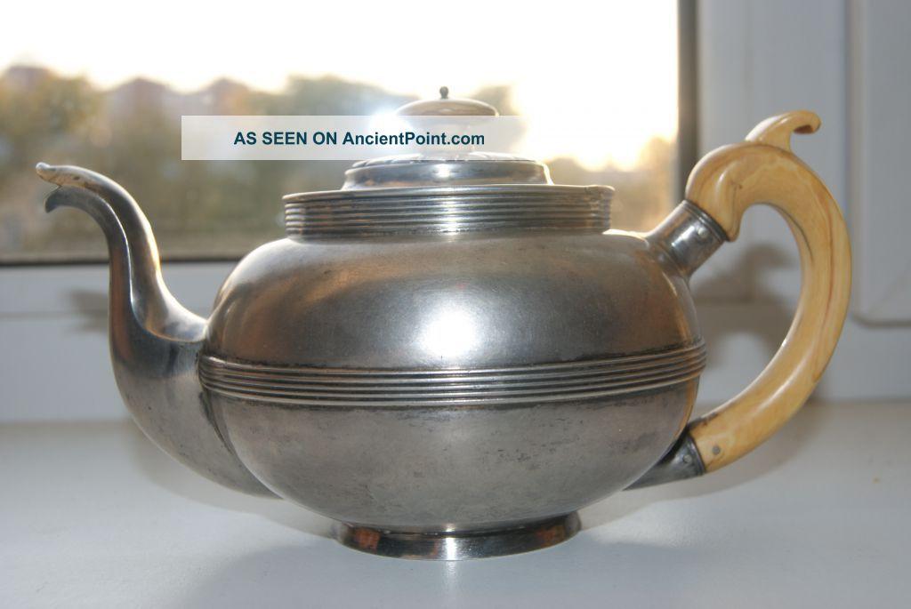 Russian Silver 84 Teapot Russia photo