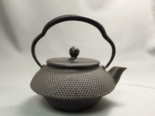 Japanese Cast Iron Tea Kettle Tetsubin Nanbu Ceremony 6 photo