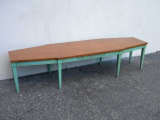 Mid - Century Inlaid Painted Coffee Table 5163 photo