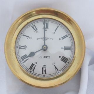 Vintage Emory & Douglas Brass Quartz Clock,  Unknown photo