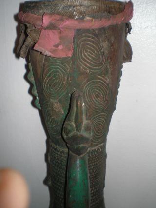 Antique Asmat Kundu Drum Guinea Drum photo