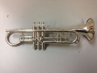 York & Sons Silver Trumpet C.  1908 Grand Rapids,  Mi photo
