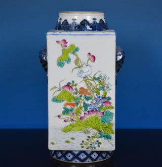 Stunning Antique Chinese Famille Rose Porcelain Vase Marked Qianlong Rare P7079 photo