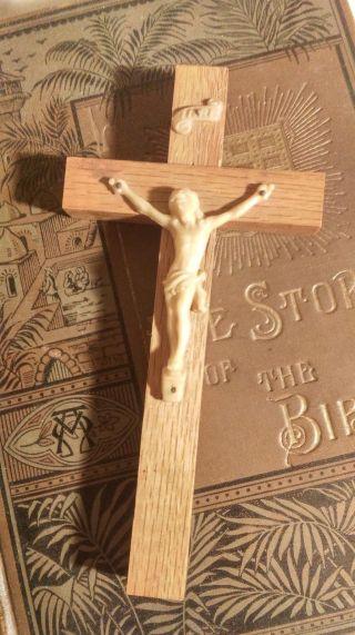 I.  N.  R.  I.  Jesus Cross Vestment Vintage Church Crucifix Holy Inri Wood Vtg photo