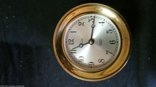 Item 439 Vintage Boston Chelsea Deck Ship Clock Shipstrike Quartz photo