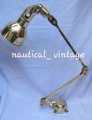 Nautical Solid Brass Folding Table Lamp Adjustable To Suit Ones Need 1 Pc. photo