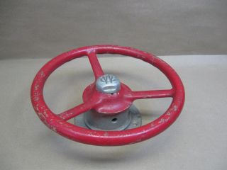 Vtg Wilcox Crittenden Racing Boat Steering Wheel Orig Finish W/ Mount 10