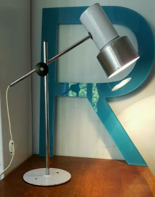 Vintage Industrial Machinists Lamp Desk Light Anglepoise photo