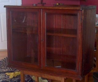 Display Cabinet - Victorian Mahogany Shopfitting Wall Cabinet photo