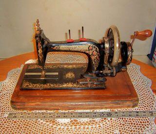 Antique English Bradbury ' S Family Sewing Machine Hand Crank photo