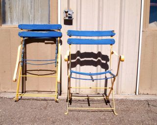 Antique European Wrought Iron Lawn Folding Chair photo
