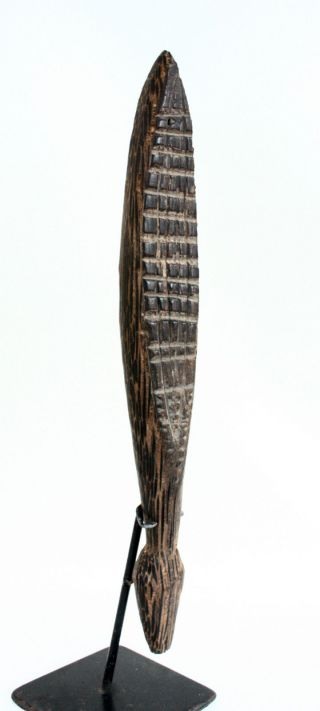 Png - Old Tapa Beater - Black Palm. photo
