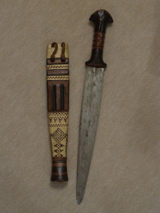 African Dagger,  Arm Dagger,  Sudanese Dagger,  Tribal Dagger.  Antique. photo