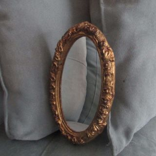 Vintage Antique Florentia Italy Gold Painted Gilt Gilded Wood Frame Mirror photo