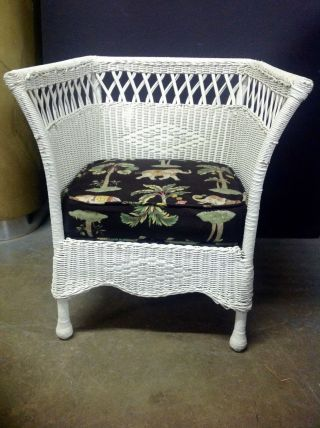 Wonderful 1920 ' S Wicker Armchair By Karpen photo
