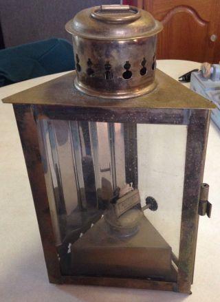 Antique Brass Nautical Lantern British Make Bow Light photo