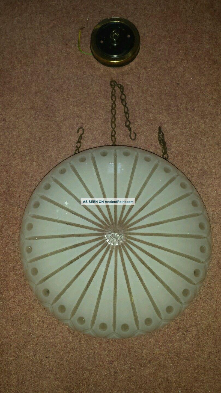Vintage Hanging Cut Glass Light Shade Edwardian (1901-1910) photo