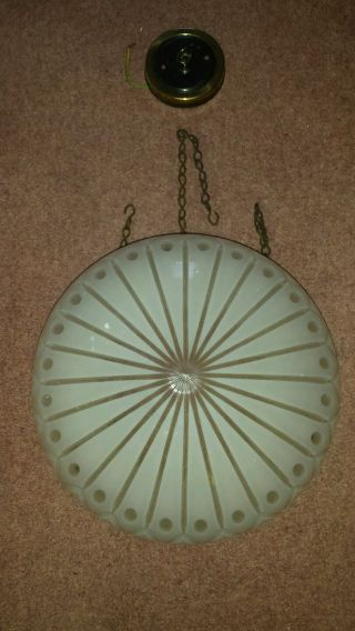 Vintage Hanging Cut Glass Light Shade photo