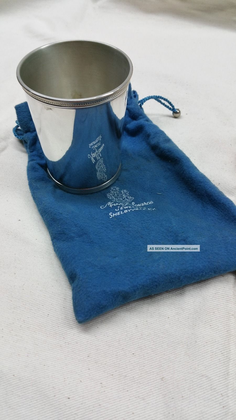 Vintage Sterling Silver Trophy Cup By Mark J.  Scearce Eisenhower Cup Cups & Goblets photo