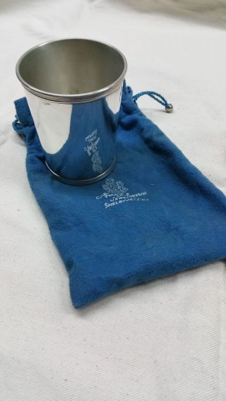 Vintage Sterling Silver Trophy Cup By Mark J.  Scearce Eisenhower Cup photo