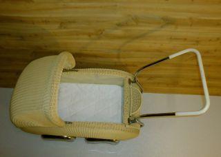 Mid Century Mod Deco Europe Import Baby Stroller Bassinet W/ Streamline Fenders photo