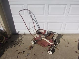 Vintage 1950 ' S Taylor Tot Red Baby Stroller And Walker All 2375 photo