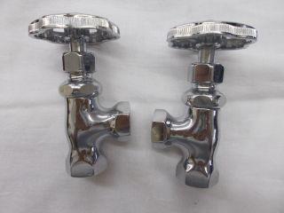 "Pair Vintage ""standard"" Plumbing Shutoffs,  Never Installed photo"