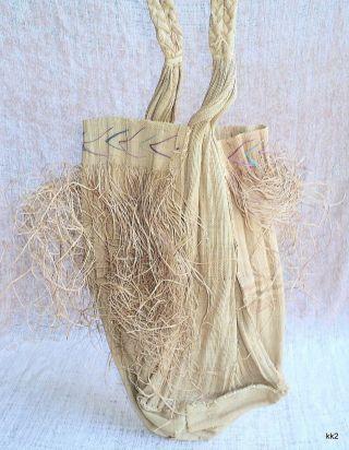 Antique,  Finely Woven Fiber Basket Bag 14