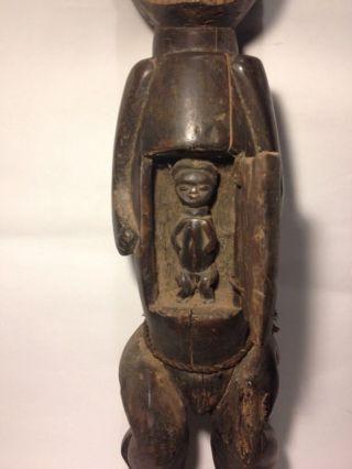 Authentic African Art Tsogo Maternity / Fertility Statue Gabon Tribe photo