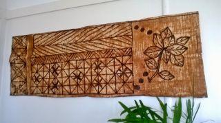Tapa Cloth Vintage 1970s Samoan ' Siapo ' photo