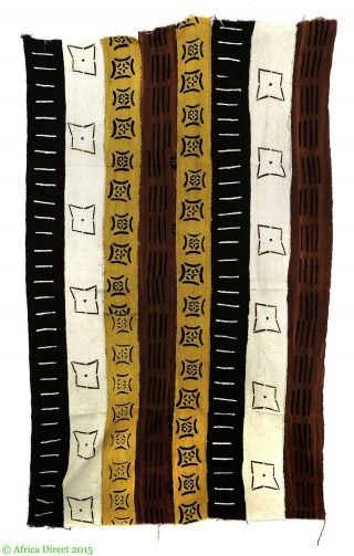 Mudcloth Bogolanfini Handwoven Textile Dyed Mali Africa Was $49 photo