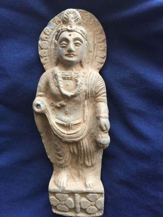 Gandhara / Gandharan Budha Female Bodhisattva Schist Stone photo