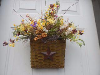 Spring,  Summer Floral Door Basket Arrangement,  Wreaths photo